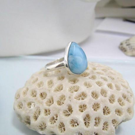 Larimar-Stone Larimar Ring Tropfen YF15 10592 39,90 €