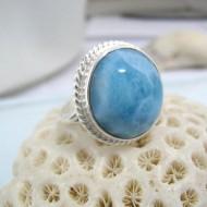 Larimar-Stone Yamir Ring Round LR7 10593 54,90 €