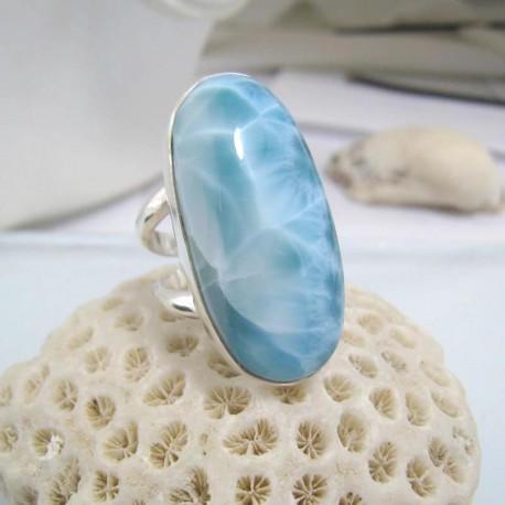Larimar-Stone Larimar Yamir Luxury Ring Oval YR6 10596 129,00 €