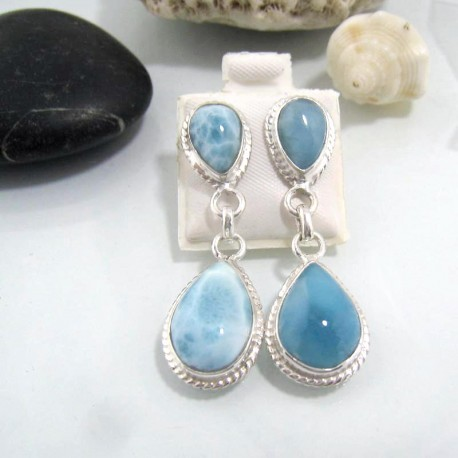 Larimar-Stone Larimar Earrings Drop OT11 10605 79,99 €