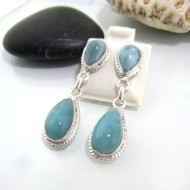 Larimar Earrings Drop OT14