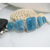 Yamir Luxury Bracelet 5 Quadrangle YA1 10612 Larimar-Stone 299,00 €
