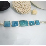 Yamir Luxury Bracelet 5 Quadrangle YA2 10613 Larimar-Stone 299,00 €