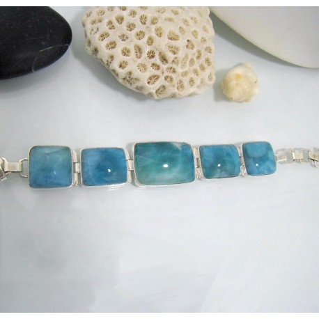 Yamir Luxury Bracelet 5 Quadrangle YA2 10613 Larimar-Stone 299,00 €