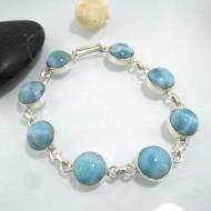 Larimar-Stone Silber Armband mit 8 Larimar Steinen LC18 10624 89,00 €