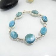 Larimar-Stone Silber Armband mit 7 Larimar Steinen LC21 10627 89,00 €
