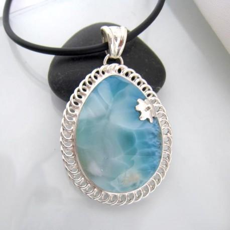 Larimar-Stone Yamir Luxury Pendant Drop YT52 10642 209,00 €