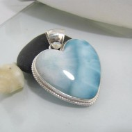 Ларимар ювелирные изделия сердце HZ10 10643 Larimar-Stone
