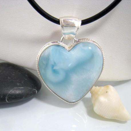 Ларимар ювелирные изделия сердце HZ11 10644 Larimar-Stone
