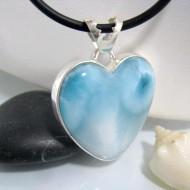 Ларимар ювелирные изделия сердце HZ13 10646 Larimar-Stone