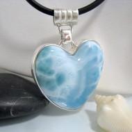 Ларимар ювелирные изделия сердце HZ14 10647 Larimar-Stone