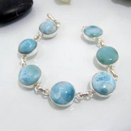 Yamir Luxury Bracelet 7 rond LC23 10629 Larimar-Stone 109,00 €