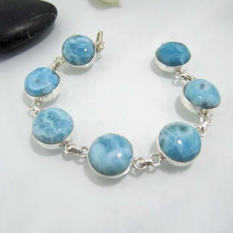 Larimar-Stone Yamir Bracelet 7 Round LC24 10630 109,00 €