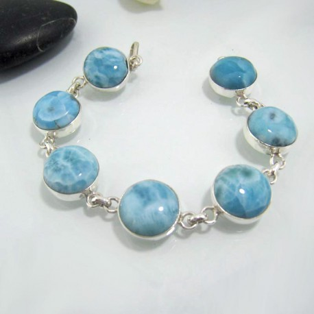 Yamir Luxury Bracelet 7 rond LC24 10630 Larimar-Stone 109,00 €