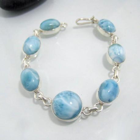 Larimar-Stone Silber Armband mit 7 Larimar Steinen LC29 10635 99,00 €