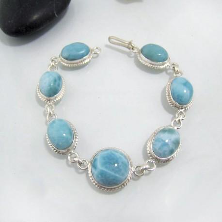 Larimar-Stone Yamir Bracelet 7 Larimar Stones Classic LC30 10636 139,00 €