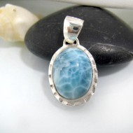 Ларимар ювелирные изделия кулон OV44 10676 Larimar-Stone