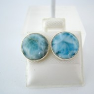 Larimar-Stone Larimar Earrings Round 9062 29,00 €