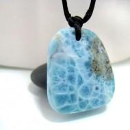 Ларимар камень пробурена с лентой SB124 10683 Larimar-Stone