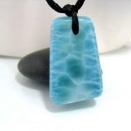 Piedra Larimar perforada con cordón SB125 10684 Larimar-Stone 129,90 €