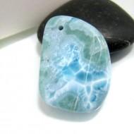 Larimar-Stone Larimar Stone Polished with drilled hole SB156 10712 49,90 €