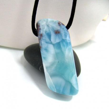 Larimar-Stone Larimar Stein mit Bohrung und Band SB131 10690 89,90 €