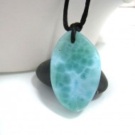 Piedra Larimar perforada con cordón SB133 10692 Larimar-Stone 69,90 €