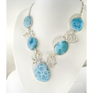 Larimar-Stone XL Yamir Luxury Collier Necklace 9066 699,00 €