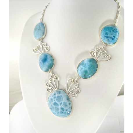 Larimar-Stone XL Yamir Luxury Collier Necklace 9066 899,00 €