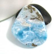 Ларимар галтованный HL23 10772 Larimar-Stone