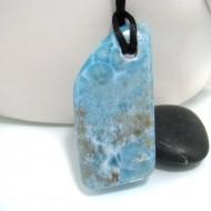 XXL Ларимар камень пробурена с лентой SB142