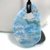 XXL Piedra Larimar perforada con cordón SB145 10704 Larimar-Stone 219,90 €