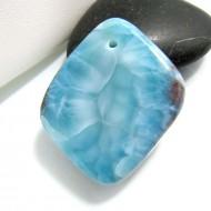 Ларимар камень пробурена SB176 10735 Larimar-Stone