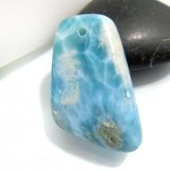 Larimar-Stone Larimar Stone Polished with drilled hole SB179a 10736 44,90 €