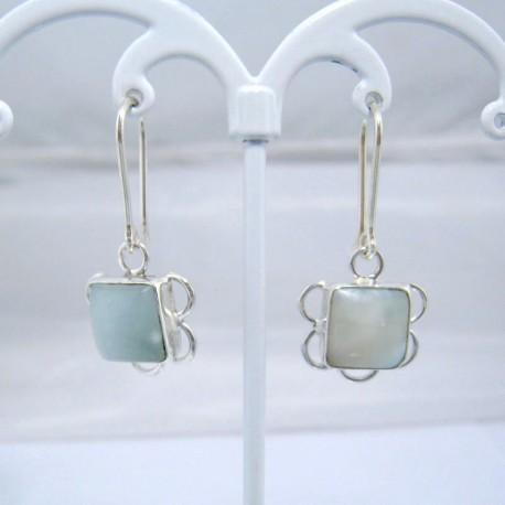 Larimar-Stone Larimar Earrings Square VO4 10880 39,00 €