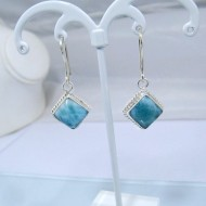 Larimar-Stone Larimar Earrings Square VO5 10881 39,00 €