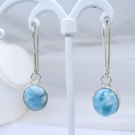 Larimar-Stone Larimar Earrings Oval YO5 10887 39,00 €