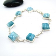 Yamir Luxury Bracelet 7 Quadrangle YA6 10971 Larimar-Stone 89,00 €
