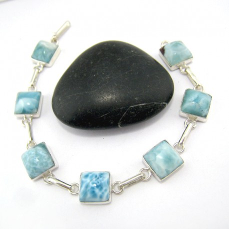 Larimar-Stone Larimar Yamir Armband 7x Viereck YA7 10973 89,00 €