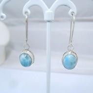 Larimar Earrings Oval YO7