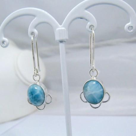 Larimar-Stone Larimar Earrings Oval YO12 10895 39,00 €