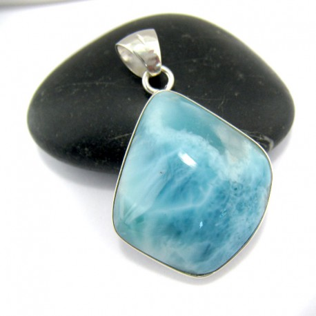 Ларимар kулон свободной форме FR56 10914 Larimar-Stone