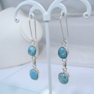 Boucles d'oreilles Larimar 2x ovale YO13 10897 Larimar-Stone 49,00 €