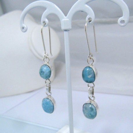 Larimar-Stone Larimar Earrings 2x Oval YO13 10897 49,00 €