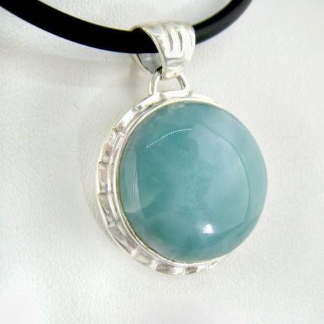 Ларимар ювелирные круглый кабошон 9105 Larimar-Stone