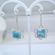 Larimar Earrings Square VO12