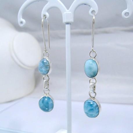 Boucles d'oreilles Larimar 2x ovale YO19 10907 Larimar-Stone 49,00 €