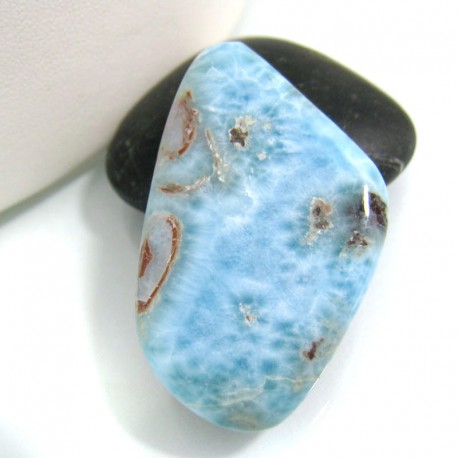 Ларимар галтованный HL36 10785 Larimar-Stone