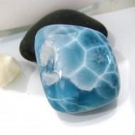 Ларимар без формы кабошон FC161 10975 Larimar-Stone