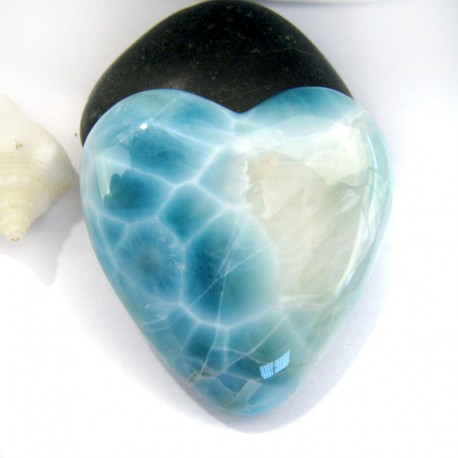 XXL Ларимар сердце кабошон HZ11 10981 Larimar-Stone